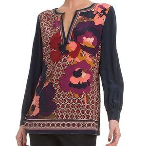 Trina Turk Floral Lotta Silk Top